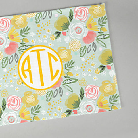 Woven Monogram Placemat - Meadow