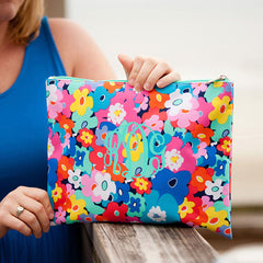 poppy floral pouch cosmetic bag