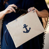 anchor zip pouch