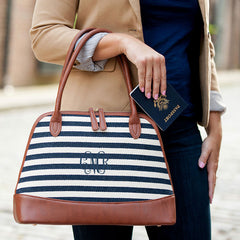 stripe bag with tassel