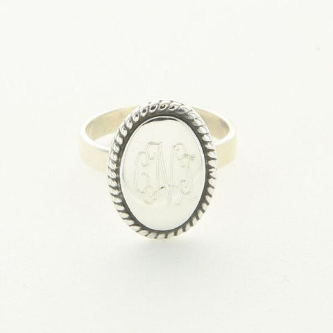 Oval Braided Ring