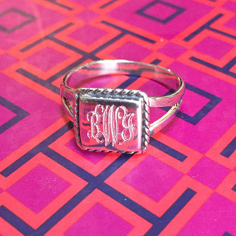 Sterling Silver Ring - Square
