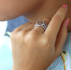 3 band stackable ring with cz