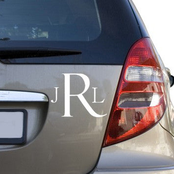 Classic Car Monogram Decal