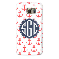 Samsung Galaxy Case - Anchors Coral