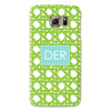 Samsung Phone Case - Basketweave Lime