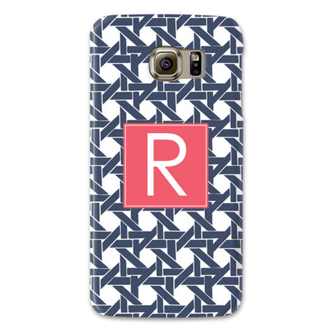 Monogram Samsung Galaxy Case - Basketweave