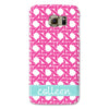 Samsung Phone Case - Basketweave Pink