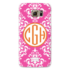 Damask Samsung Phone Case - Pink