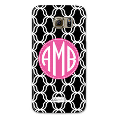 Lattice Samsung Phone Case - Black