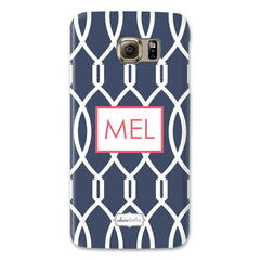 Samsung Phone Case - Trellis Navy