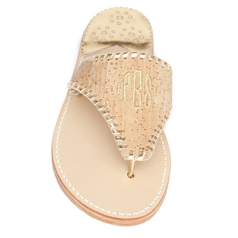 Cork Classic Monogram Palm Beach Sandals