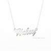 Image of Sterling Silver Nameplate Necklace
