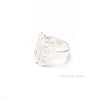 Sterling Silver Monogram Ring script