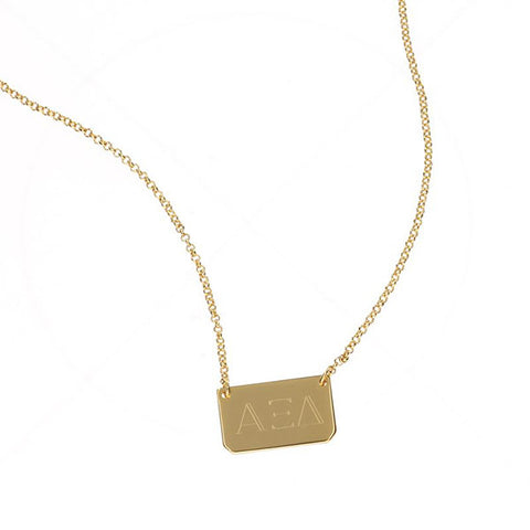 Sorority Rectangle Bar Necklace