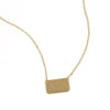 gold rectangle bar necklace