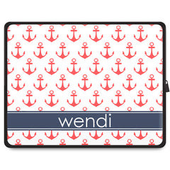 Anchors Tablet Sleeve - Coral