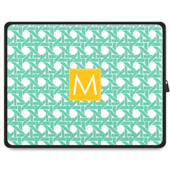 Basketweave Tablet Sleeve - Mint
