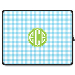 Gingham Tablet Sleeve - Sky