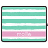 Stripe Tablet Sleeve - Mint