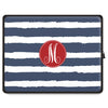 Stripe Tablet Sleeve - Navy