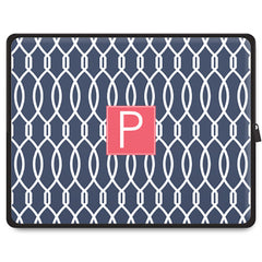 Trellis Tablet Sleeve - Navy