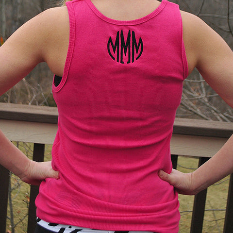 Monogram Cotton Tank Top - Choose Color