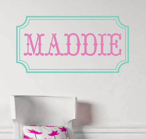 Vintage Open Monogram Wall Decal-Design It