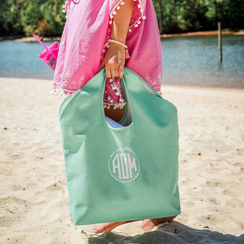Large Jute Monogram Beach Bag - 3 Colors