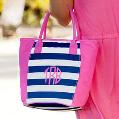 Monogram Stripe Cooler Bag