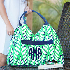 beach bag with palm pattern