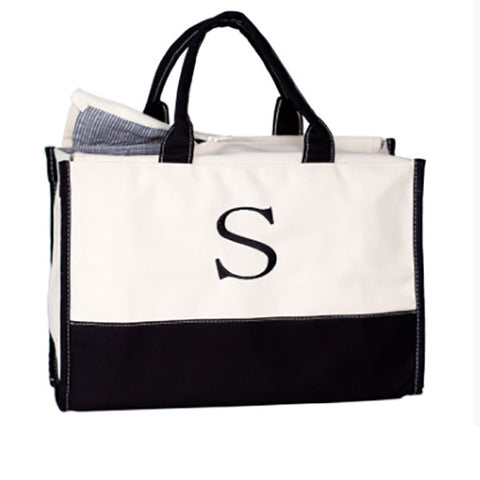 Vivera Monogram Tote Bag - Choose Color