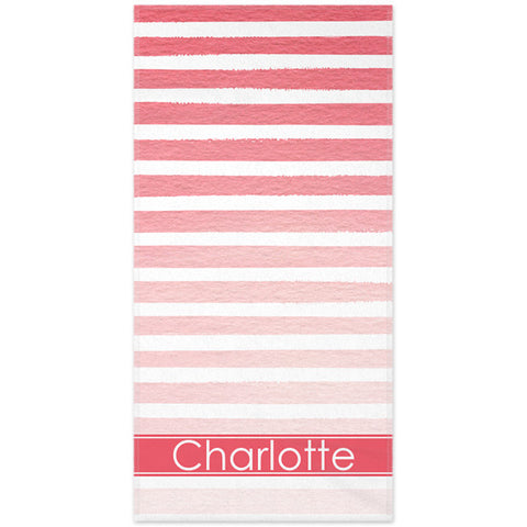 Monogram Beach Towel - Ombre Stripe