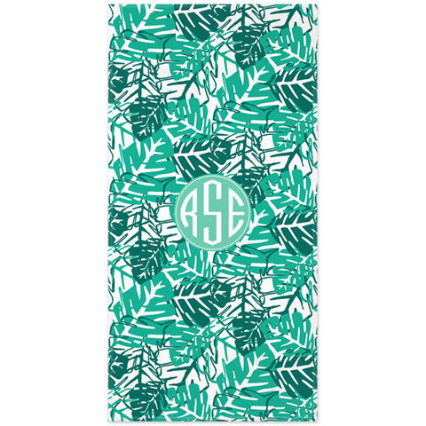 Monogram Beach Towel - Palms