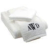 White Monogram Bath Towel Set