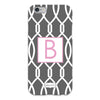 Gray Trellis iPhone Case
