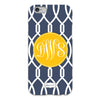 Navy Trellis iPhone Case