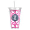 Basketweave Tumbler - Hot Pink