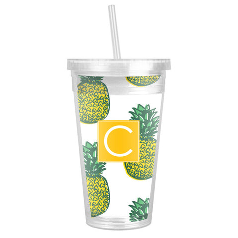Insulated Monogram Tumbler - Pineapple