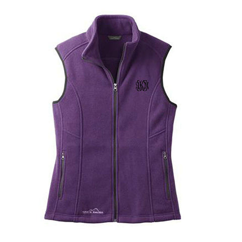 Monogram Fleece Vest - Purple