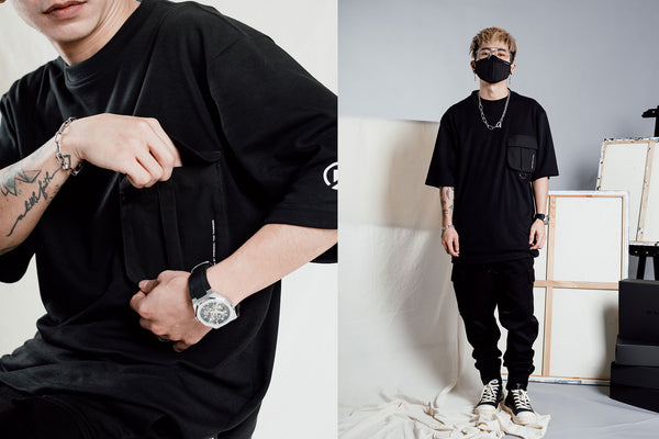 "S21 - ""Essential"" T-Pocket Oversized T-shirt"