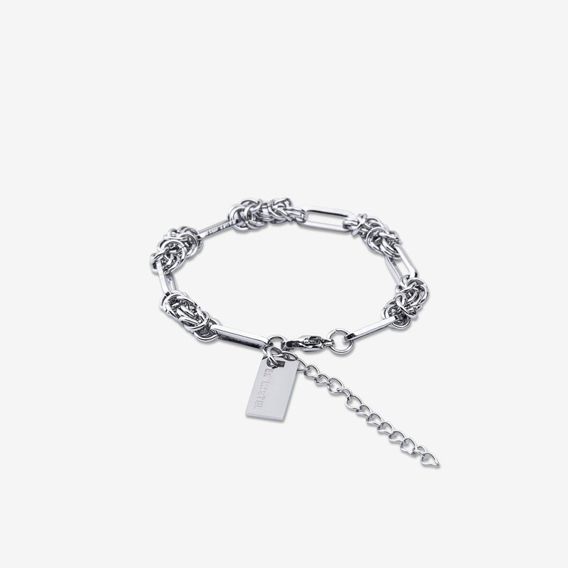 """Essential"" Inverse Chain Bracelet - Silver"