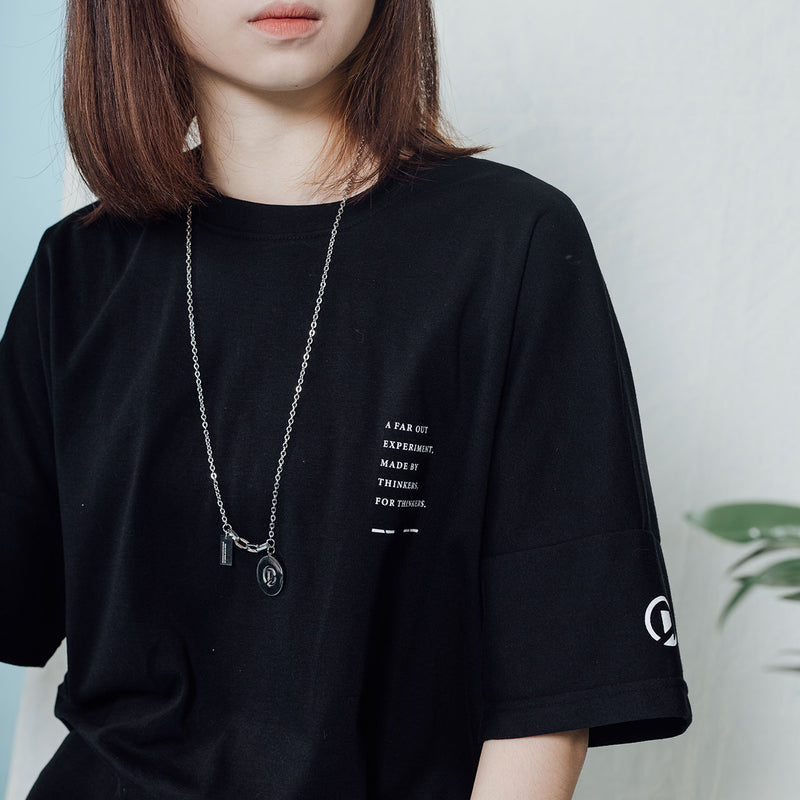 """Essential"" Dropped Oversized T-shirt -Black"