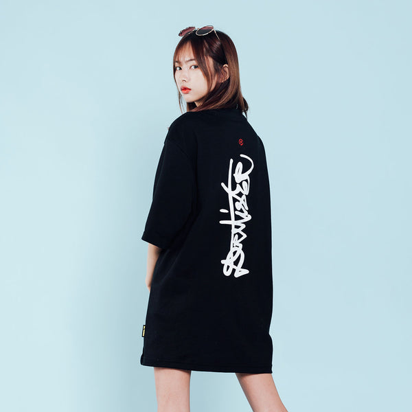 """Essential"" Signature Oversized T-shirt -Black"