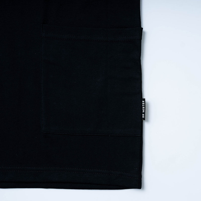 """Creative Mastermind"" Oversized Pocket T-shirt Black"