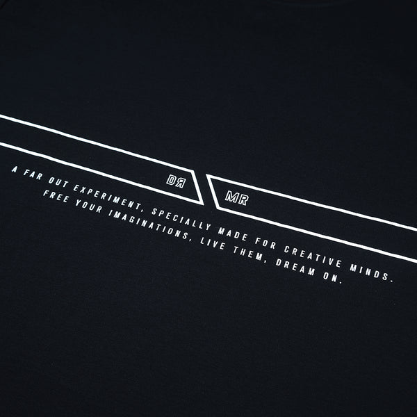 """Essential"" Classic Double Stripe T-shirt 2.0 - Black (Improved straps)"