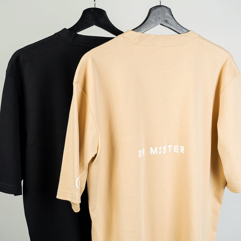 """Essential"" Piped Oversized Double Strap T-shirt 2.0 - Black"