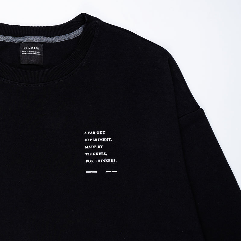 """Essential"" Cosy Dropped Sweatshirt - Black"