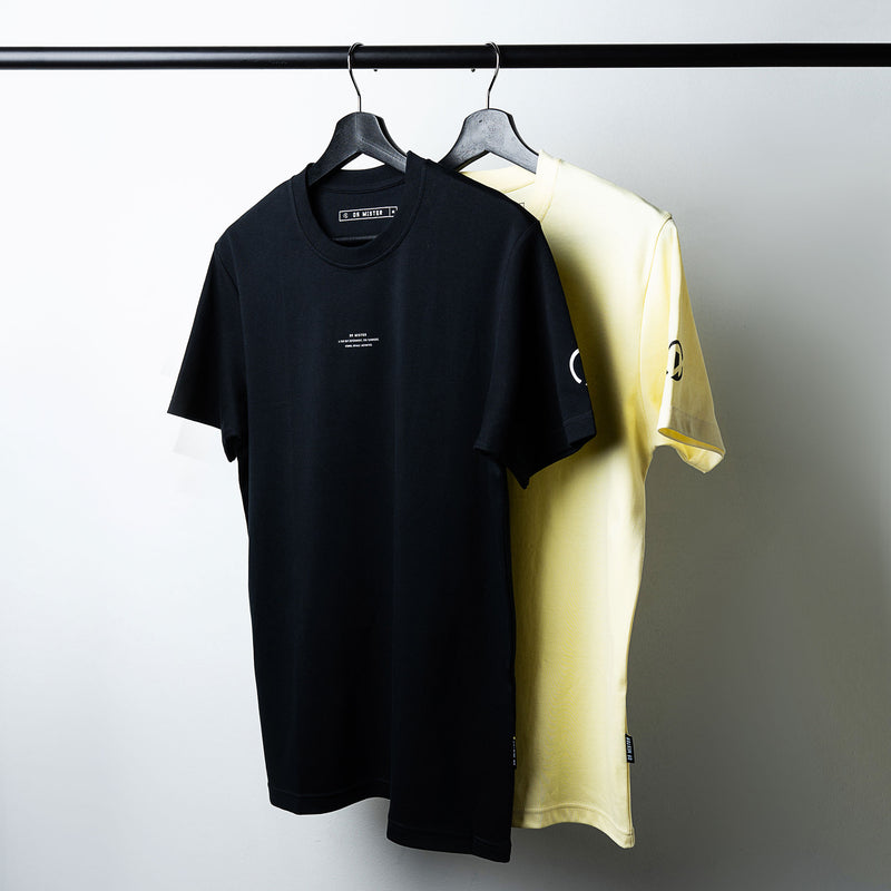 """Essential"" Thoughts Basic T-shirt - Cream Yellow"