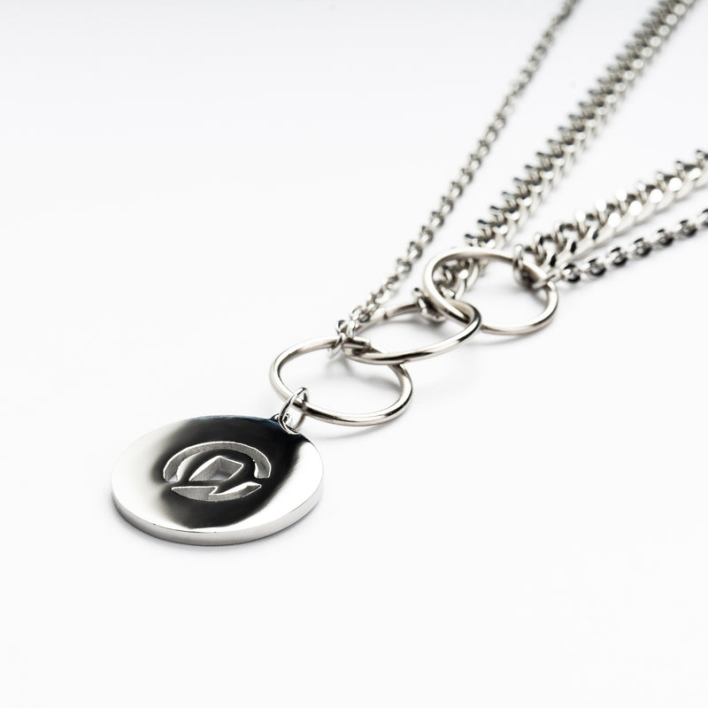"""Essential"" Multi Chains Necklace - Silver"